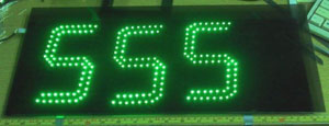 LED COUNTER GREEN