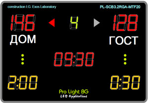 LED Scoreboard Volleyball-Futsal-Handball-Level-3
