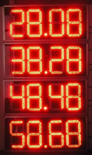 LED gas station display