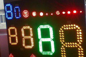 LED 7-segment digits
